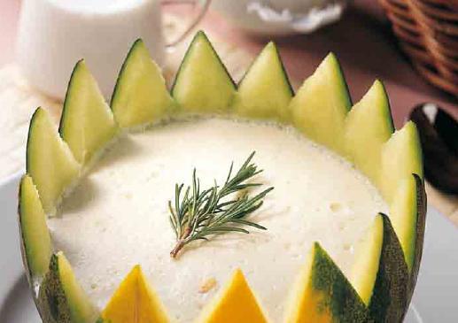 receta crema de melon